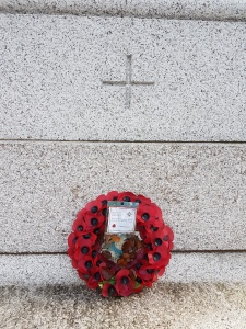 2016: the British Legion left a wreath.